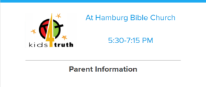 Click here for Kids4Truth Parent Information letter